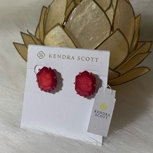 [Kendra Scott] Morgan Earrings - Red
